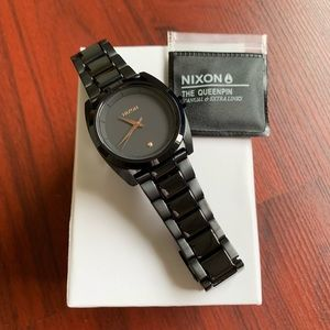 Nixon Queenpin Black and Rose Gold Watch